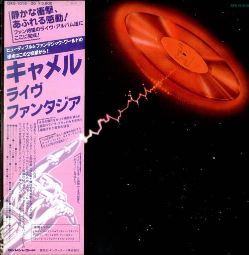 Camel A Live Record + Poster + Obi Japanese 2-LP vinyl