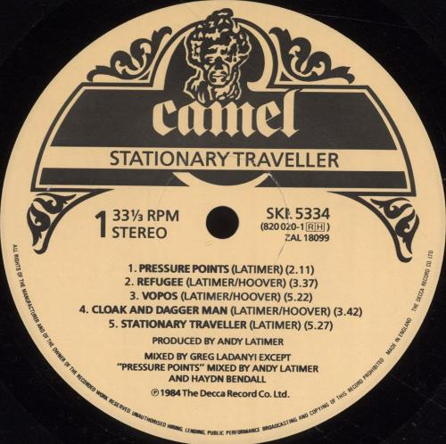 Camel Stationary Traveller vinyl LP album (LP record) UK C-LLPST495319
