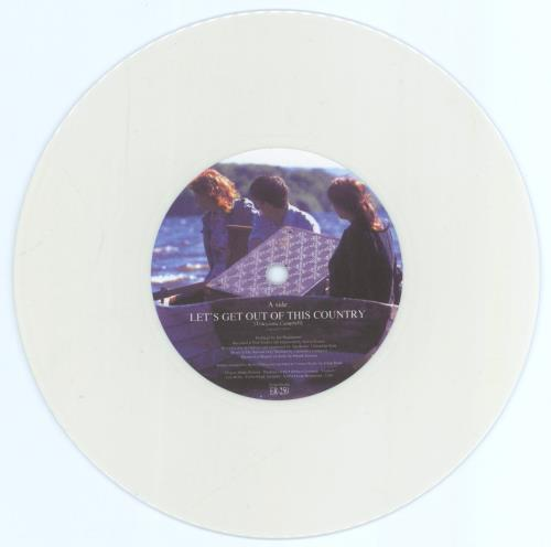 """Camera Obscura (UK) Let's Get Out Of This Country - White Vinyl 7"""" vinyl single (7 inch record) Spanish CSU07LE770432"""