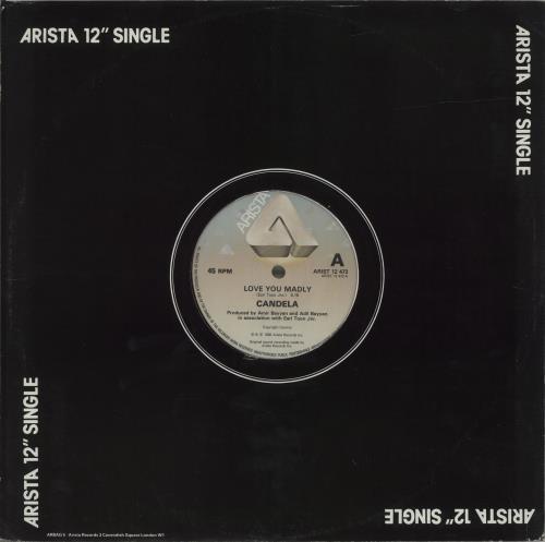 "Candela Love You Madly 12"" vinyl single (12 inch record / Maxi-single) UK QBO12LO686252"