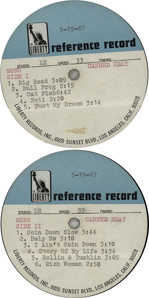 Canned Heat Canned Heat - Reference Disc acetate US CNHATCA629240