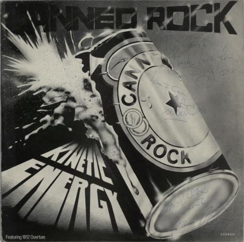 Canned Rock Kinetic Energy - Autographed vinyl LP album (LP record) UK C6PLPKI591591