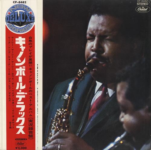 Cannonball Adderley Cannonball Deluxe + Obi - Red Vinyl vinyl LP album (LP record) Japanese ERLLPCA519379