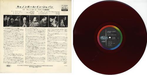 Cannonball Adderley Cannonball In Japan - Red Vinyl vinyl LP album (LP record) Japanese ERLLPCA365569