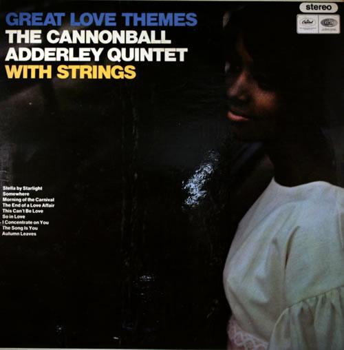 Cannonball Adderley Great Love Themes vinyl LP album (LP record) UK ERLLPGR564541