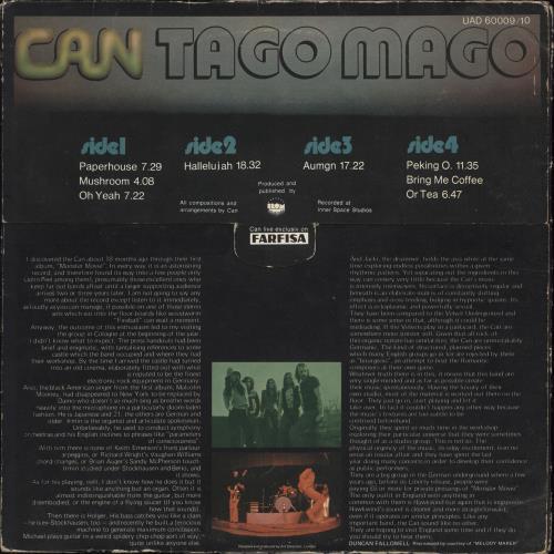 Can Tago Mago - 1st - EX 2-LP vinyl record set (Double Album) UK C+N2LTA567620