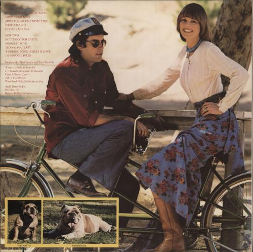 Captain & Tennille Song Of Joy vinyl LP album (LP record) US C&TLPSO766568