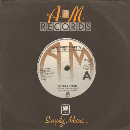 """Captain & Tennille The Way I Want To Touch You 7"""" vinyl single (7 inch record) UK C&T07TH643539"""