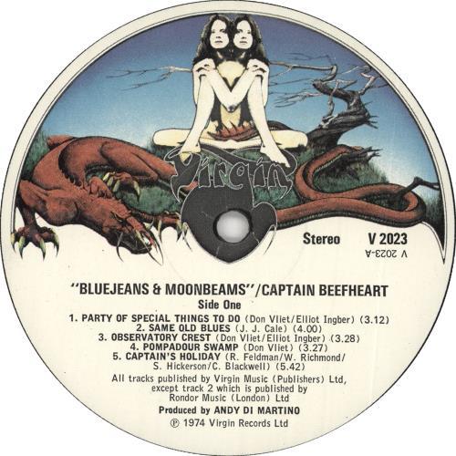 Captain Beefheart & Magic Band Bluejeans & Moonbeams - 1st vinyl LP album (LP record) UK CPTLPBL63521