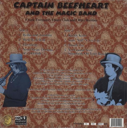 Captain Beefheart & Magic Band Frank Freeman's Dance Club - green vinyl vinyl LP album (LP record) UK CPTLPFR759819