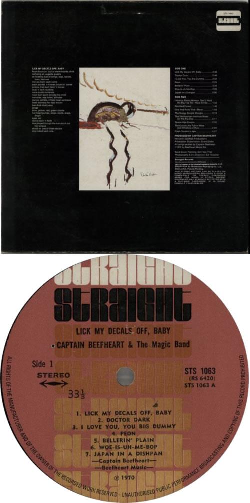 Captain Beefheart & Magic Band Lick My Decals Off, Baby - VG vinyl LP album (LP record) UK CPTLPLI609536