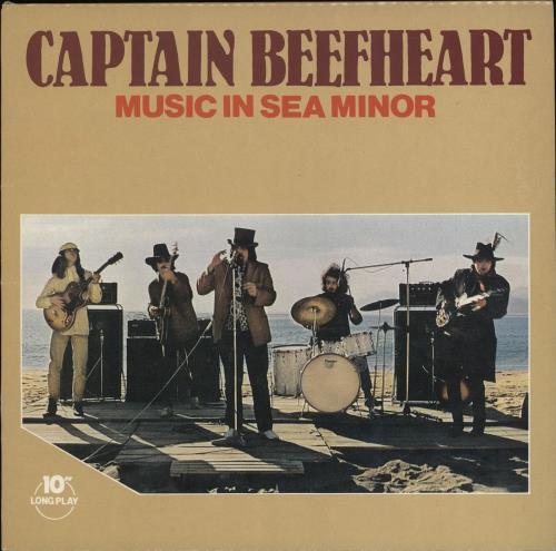 "Captain Beefheart & Magic Band Music In Sea Minor 10"" vinyl single (10"" record) UK CPT10MU290736"