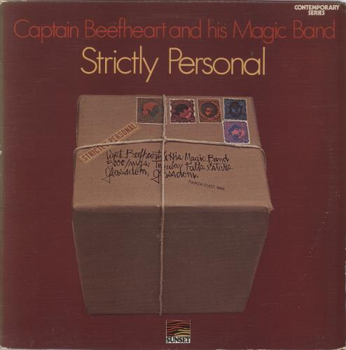 Captain Beefheart & Magic Band Strictly Personal - Textured Sleeve vinyl LP album (LP record) UK CPTLPST720393