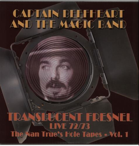 Captain Beefheart & Magic Band Translucent Fresnel Live 72/73 2-LP vinyl record set (Double Album) UK CPT2LTR646951