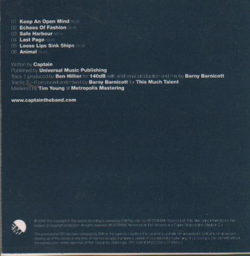 Captain Distraction - Album Sampler CD album (CDLP) UK CP7CDDI649182