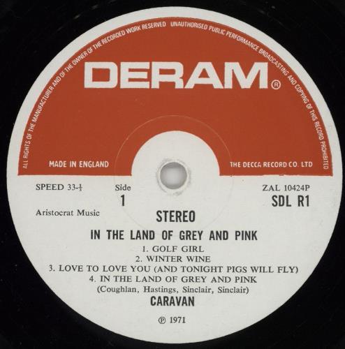 Caravan In The Land Of Grey And Pink - 2nd - EX vinyl LP album (LP record) UK CAVLPIN257455
