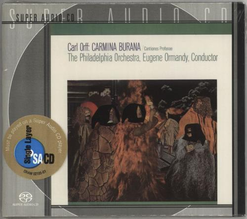 Carl Orff Carmina Burana super audio CD SACD US OB6SACA711875