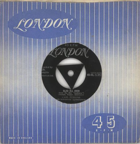 "Carl Perkins (R&R) Glad All Over - VG 7"" vinyl single (7 inch record) UK CPE07GL739623"