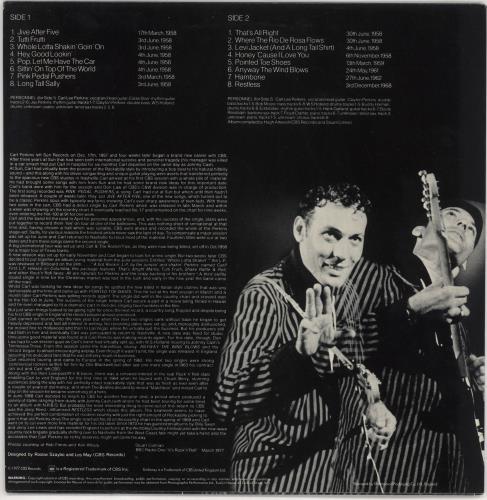 Carl Perkins (R&R) Long Tall Sally vinyl LP album (LP record) UK CPELPLO720277