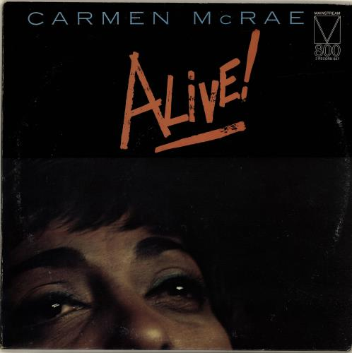 Carmen McRae Alive! 2-LP vinyl record set (Double Album) US C-M2LAL699532