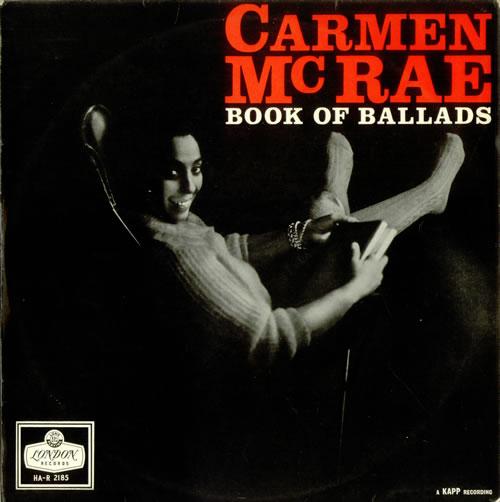 Carmen McRae Book Of Ballads vinyl LP album (LP record) UK C-MLPBO535162