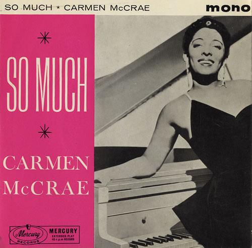 "Carmen McRae So Much EP 7"" vinyl single (7 inch record) UK C-M07SO481338"