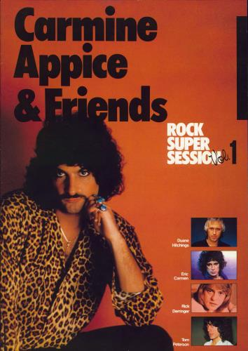 Carmine Appice Rock Super Session Vol. 1 + Ticket Stub tour programme Japanese CPPTRRO768993