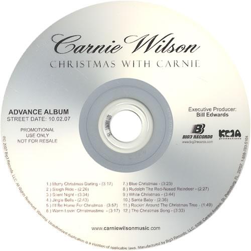 Carnie Wilson Christmas With Carnie CD-R acetate US CEWCRCH459554