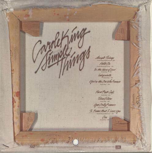 Carole King Simple Things Sealed Us Vinyl Lp Album Lp