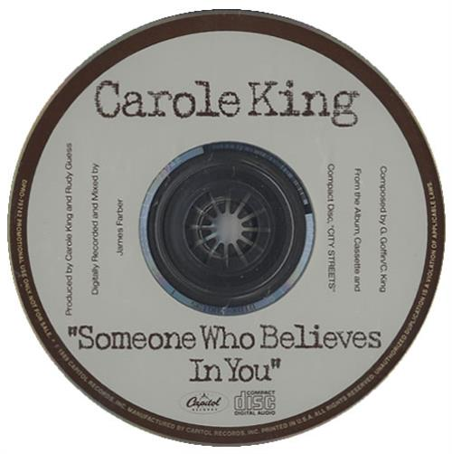 """Carole King Someone Who Believes In You CD single (CD5 / 5"""") US CRLC5SO153917"""