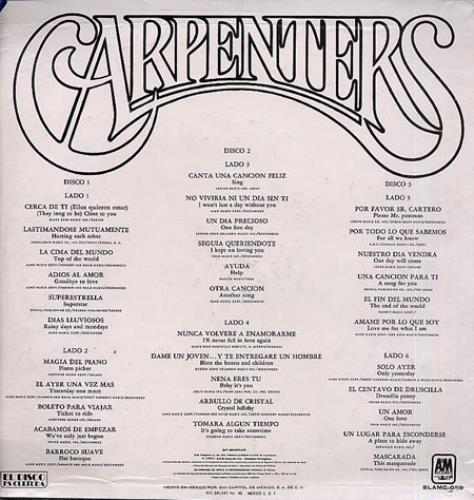 Carpenters Carpenters 3 X Lp Mexican Vinyl Box Set 101758