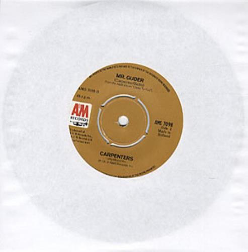 "Carpenters Jambalaya (On The Bayou) 7"" vinyl single (7 inch record) Dutch CRP07JA317327"
