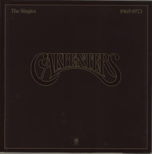 Carpenters The Singles 1969-1973 - Promo stamped vinyl LP album (LP record) UK CRPLPTH655300