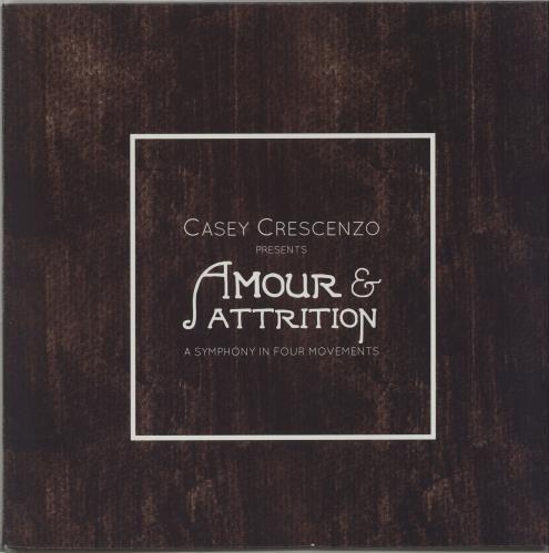 Casey Crescenzo Amour & Attrition: A Symphony In Four Parts vinyl LP album (LP record) US I33LPAM667767