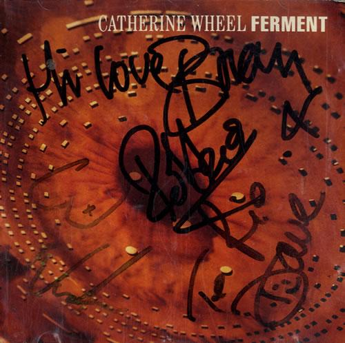 Catherine Wheel Ferment - Autographed CD album (CDLP) US CTHCDFE549931