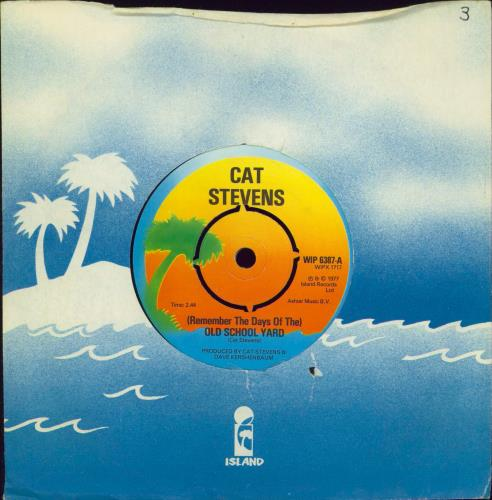 """Cat Stevens (Remember The Days Of The) Old School Yard 7"""" vinyl single (7 inch record) UK CTV07RE99292"""