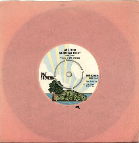 "Cat Stevens Another Saturday Night 7"" vinyl single (7 inch record) UK CTV07AN699074"