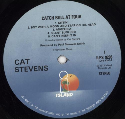 Cat Stevens Catch Bull At Four - 3rd vinyl LP album (LP record) UK CTVLPCA292660