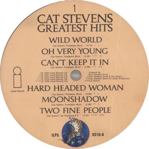 Cat Stevens Greatest Hits - 1st vinyl LP album (LP record) UK CTVLPGR562511