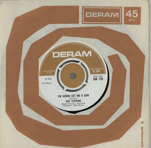 "Cat Stevens I'm Gonna Get Me A Gun - 4pr 7"" vinyl single (7 inch record) UK CTV07IM569697"