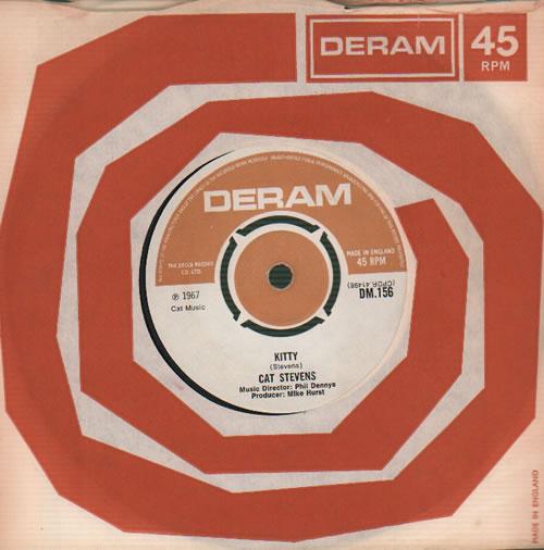 """Cat Stevens Kitty 7"""" vinyl single (7 inch record) UK CTV07KI577468"""