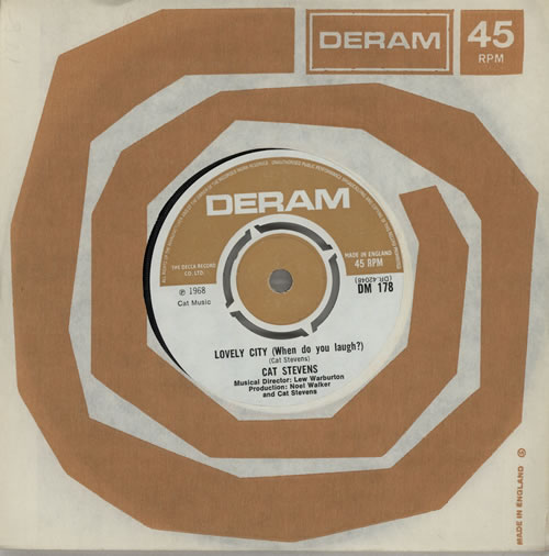 "Cat Stevens Lovely City (When Do You Laugh?) 7"" vinyl single (7 inch record) UK CTV07LO579512"