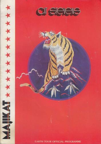 Cat Stevens Majikat - Earth Tour + Ticket Stub tour programme UK CTVTRMA685637