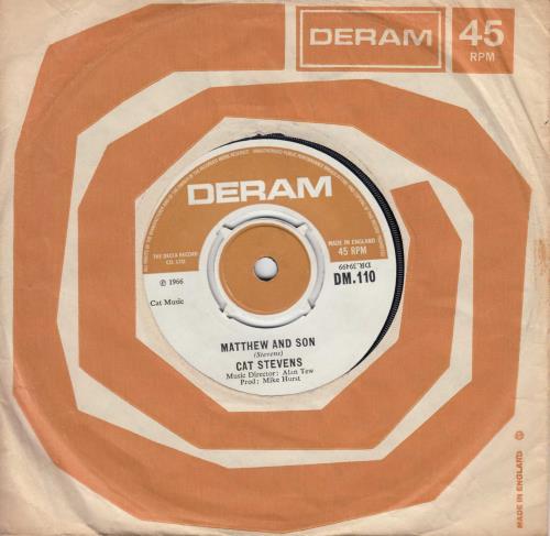 "Cat Stevens Matthew And Son - 1st 7"" vinyl single (7 inch record) UK CTV07MA579511"