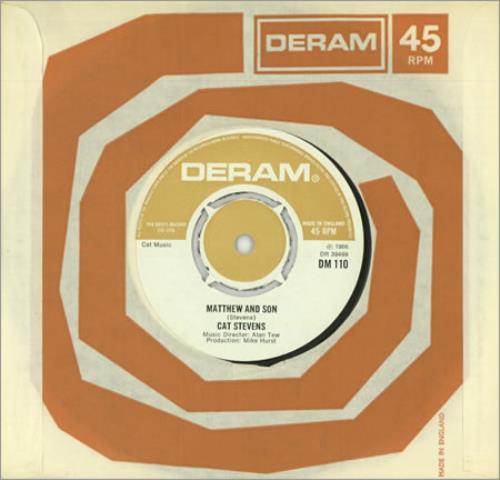 "Cat Stevens Matthew And Son - 2nd 7"" vinyl single (7 inch record) UK CTV07MA389239"