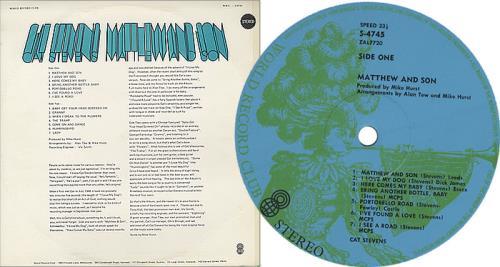 Cat Stevens Matthew And Son vinyl LP album (LP record) Australian CTVLPMA399229