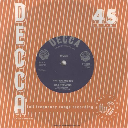 "Cat Stevens Matthew And Son 7"" vinyl single (7 inch record) UK CTV07MA748678"