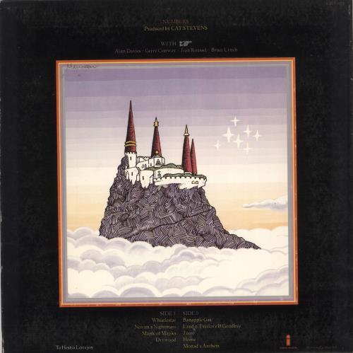 Cat Stevens Numbers - EX vinyl LP album (LP record) US CTVLPNU721883