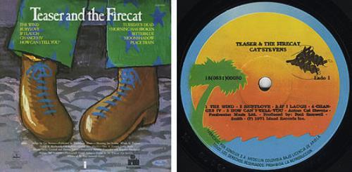 Cat Stevens Teaser Amp The Firecat Colombian Vinyl Lp Album