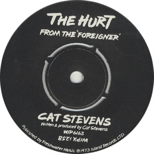 "Cat Stevens The Hurt 7"" vinyl single (7 inch record) UK CTV07TH320263"